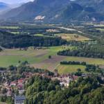 Luftaufnahme Inntal, Neubeuern, Inn, Inntal