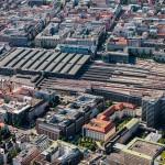 Luftaufnahme München HBF, München Hauptbahnhof, Bayern