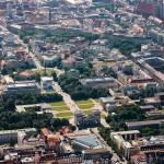 Luftaufnahmen Altstadt München, Königsplatz, Glyptotek, Hochschule für Musik und Theater, NS Dokumentationszentrum, Obelisk, Brienerstr.,