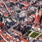 Luftaufnahmen Altstadt München, Frauenkirche, Rathaus, Alter Peter, St. Peter