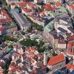 Luftaufnahmen Viktualienmarkt, München, Bayern