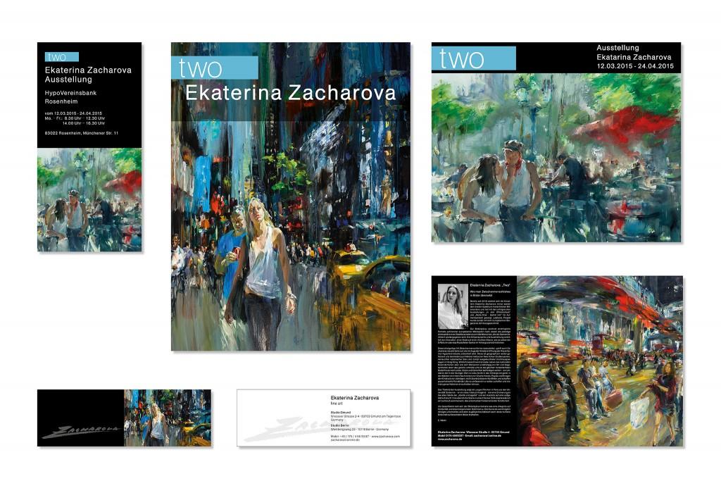 Grafik Drucksachen Zacharova, Gestaltung und Fotos für Katalog, Plakat und Aussenwerbung