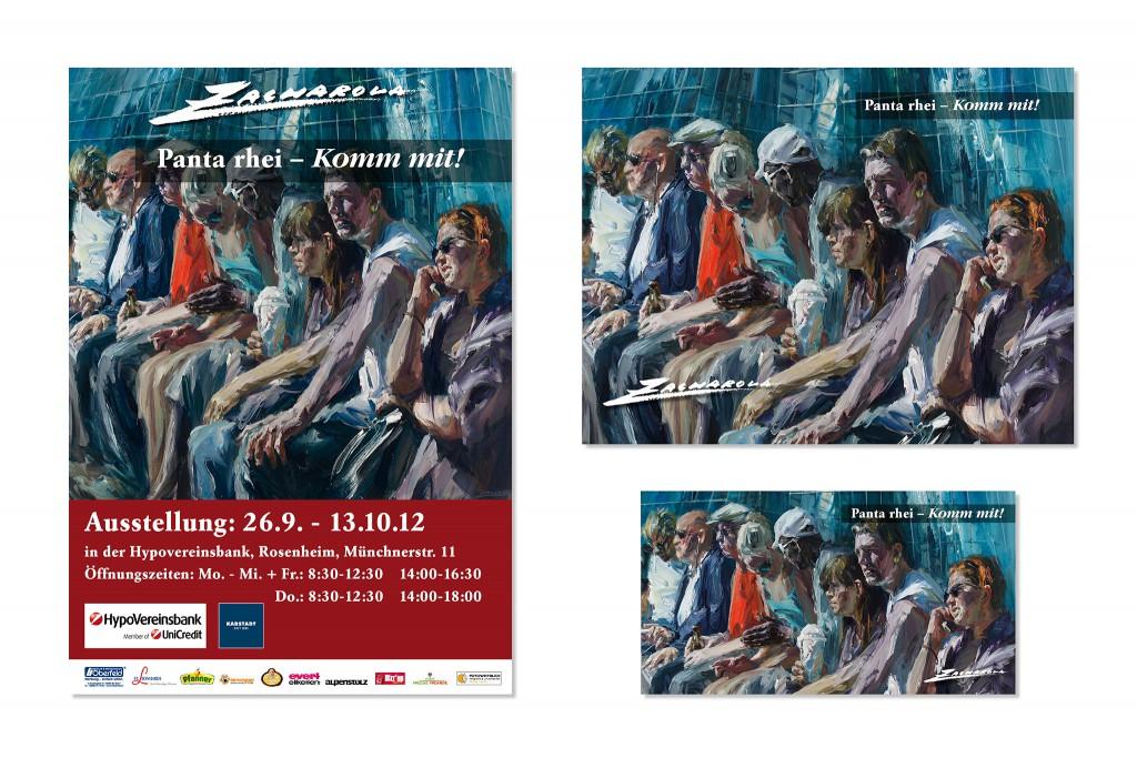 Drucksachen Zacharova, Gestaltung und Fotos für Katalog, Plakat und Aussenwerbung