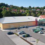 Luftaufnahme Einkaufszentrum