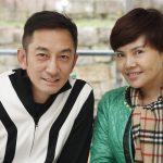 Andy Lau_Prominentenfoto, mit Frau schauen in die Kamera