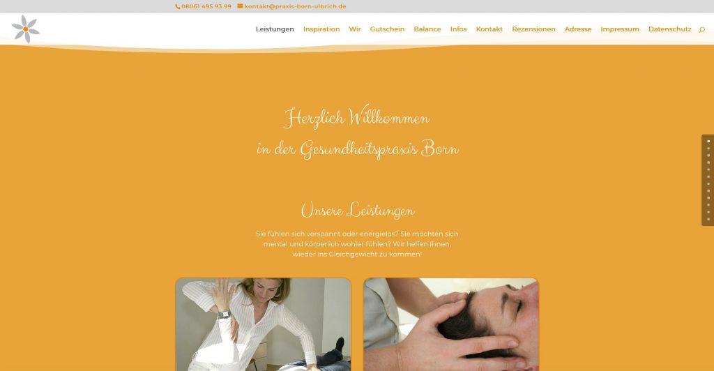 Webseite Gesundheitspraxis Born