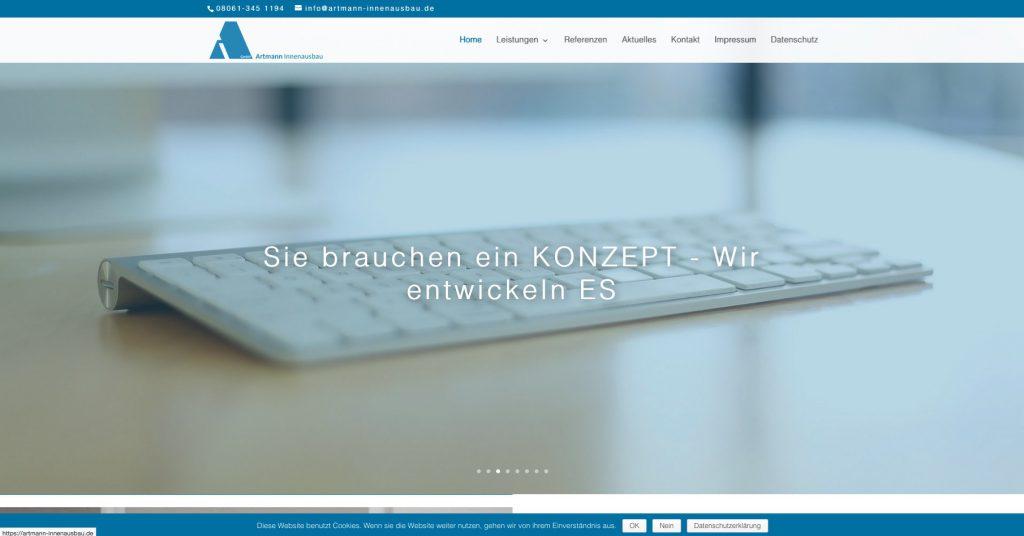 Homepage von Artmann Innenausbau